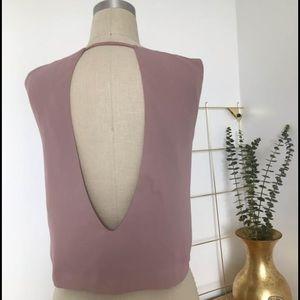 Oliveaceous pink vest tank top